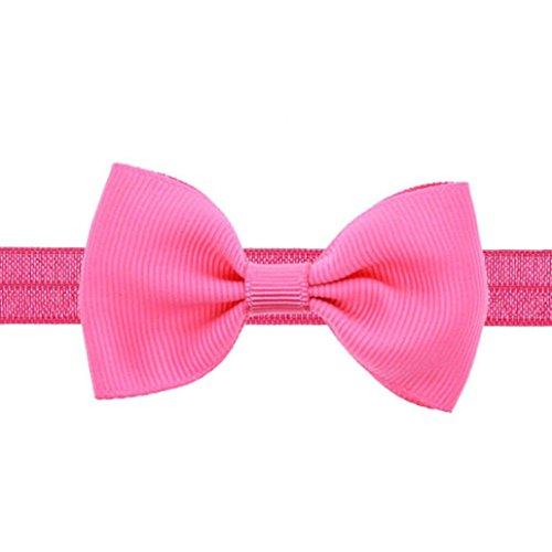 Baby Stirnbänder FORH Mädchen Hairband Niedliches Bowknot Haarband / Stirnband für Neugeboren weich elastisch Stirnband verknotete Kopfband Head wraps in vielen Farben (Rose rot)