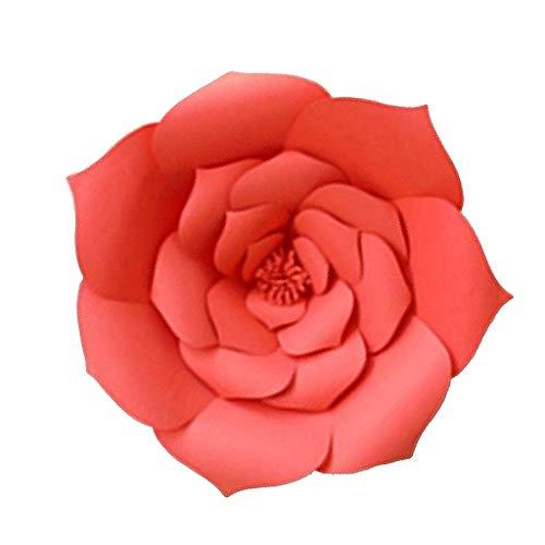 FLAMEER Rosen Papierblumen DIY Blumen Papier Dekoblumen für Hochzeit Geburtstag Taufe und Verlobung - rot