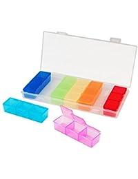 Homeofying rotonda plettri gioiello di pesca di medicina Storage box 8/griglie contenitore Multi