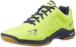 Yonex SHB AMX Aerus Badminton Shoes, UK 11 (Neon Green)