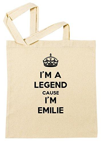 im-a-legend-cause-im-emilie-bolsa-de-compras-playa-de-algodon-reutilizable-shopping-bag-beach