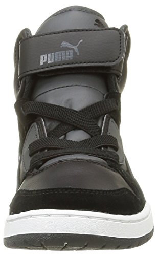 Puma Rebnd Streed Sd, Sneakers Hautes garçon Black/Dark Shadow