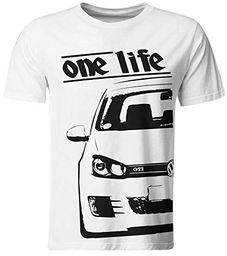6.0 T-shirt (one Life - T-Shirt/Golf 6 Weiß/Gr. S für Boys)