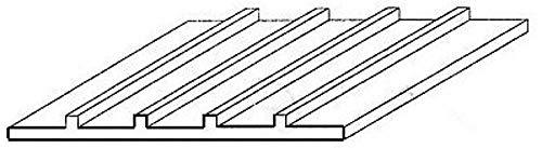 Evergreen 4544 - Structure Plaque, Jeu, 1 x 150 x 300 mm, Grille 3,2 mm, 1 pièce