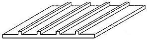 Evergreen-4542Estructura Placa, 1x 150x 300mm, cuadrícula de 1,8mm, 1Pieza