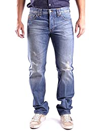 Galliano Herren MCBI130019O Blau Baumwolle Jeans