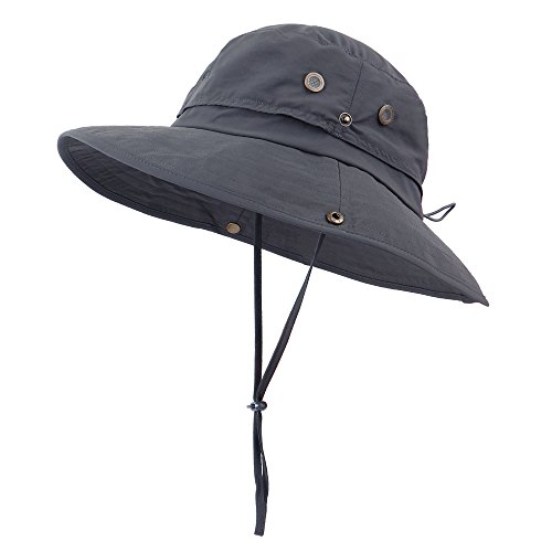 ed013388832 Anyoo Outdoor Boonie Hat Breathable Wide Brim Summer Sun Cap UV Protection  Fishing Camouflage Hat for Men and Women