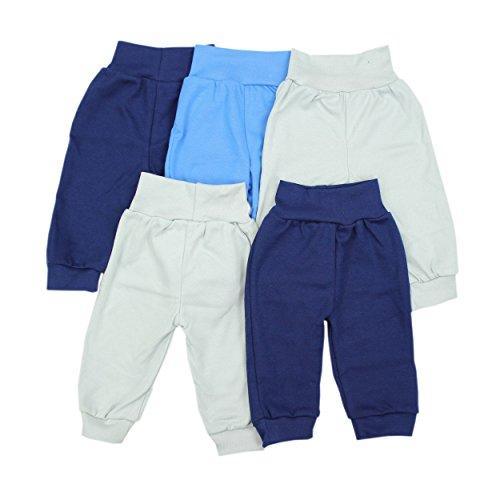 Baby Pumphose Basic Schlupfhose Jungen 100% Baumwolle Jersey Babyhose Mädchen Sommerhose im 5er Pack, Farbe: Junge, Größe: 62