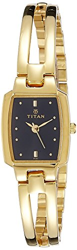 Titan Women's Karishma Analog Black Dial Watch