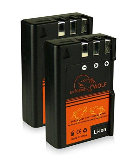Bundle - 2x Power Batería EN-EL9 / EN-EL9a para Nikon D40 | D40x | D60 | D3000 | D5000