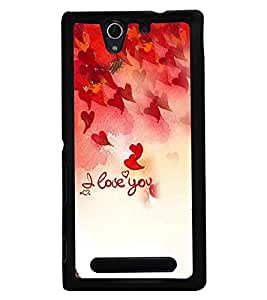 Fuson Premium Eternal Love Metal Printed with Hard Plastic Back Case Cover for Sony Xperia C3