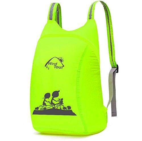 YYY-Outdoor pieghevole ultraleggera pacchetto primavera ed estate casuale borsa a tracolla per uomini e donne , dark green fluorescent green