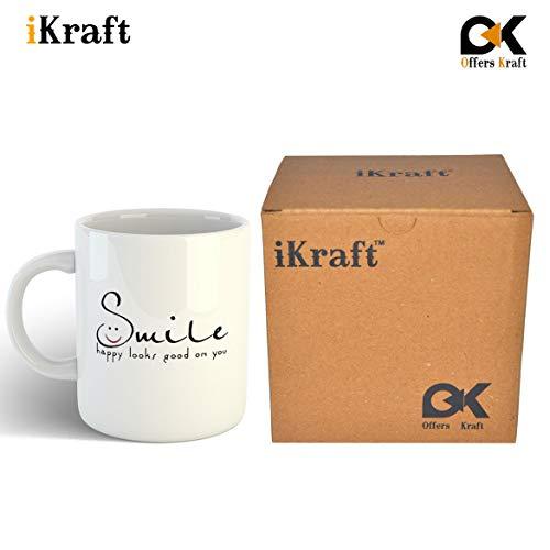 % off on ikraft smile happy looks good on you quotes coffee mug