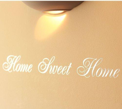 Mirror Silver Home Sweet Home Art Wall Sticker