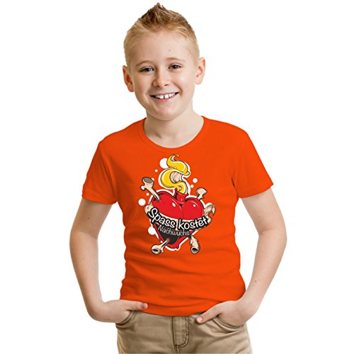 Kinder T-Shirt Spass kostet Nachwuchs Orange