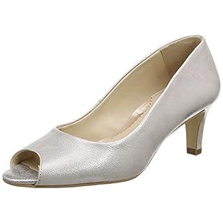 Van Dal Damen Norton Peep-Toe, Silver (Bamboo Metallic), 41 EU