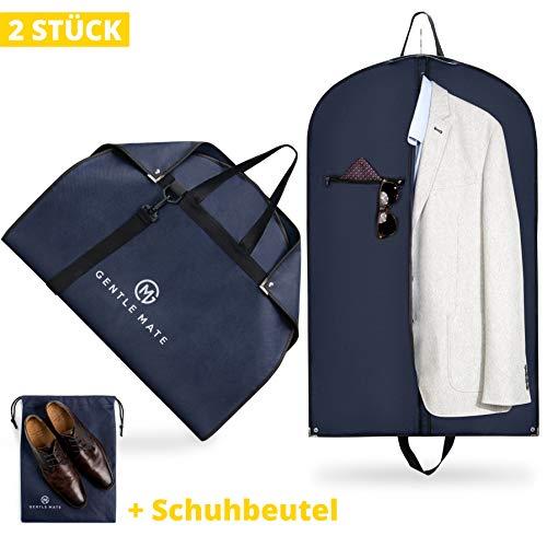 t Premium Kleidersäcke mit Schultergurt inklusive Schuhbeutel - hochwertige Anzugtasche Kleidertasche Business für Reisen und Aufbewahrung von Anzügen, Hemden Anzugsack Herren ()