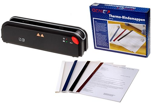 Genie B-5211 Thermobindegerät (Inkl. 50 Stück Set Thermobindemappen als Starterset)