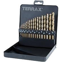 Terrax A 215319 - Juego de brocas helicoidales (cobalto, 19 unidades)
