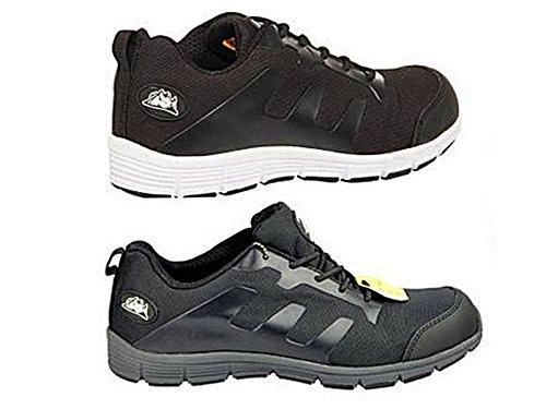 Foster Footwear, Scarpe antinfortunistiche uomo Nero Black Regolare Black/White