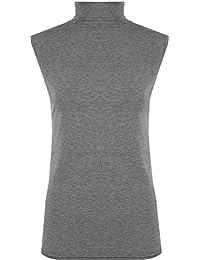 WearAll - Haut à col roulé sans manches - Hauts - Femmes - Tailles 36 à 42