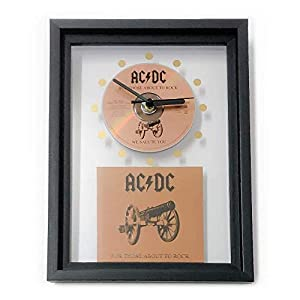AC/DC – For Those About To Rock: GERAHMTE CD-WANDUHR/Exklusives Design