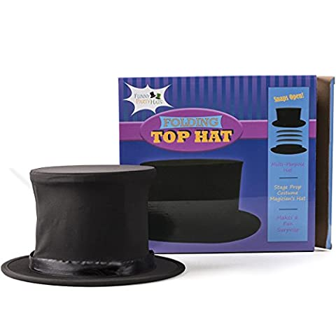 WMU Top Hat Collapsible Black Adult