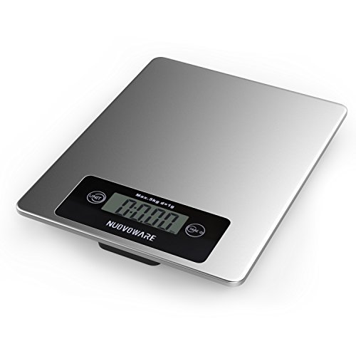 nuovoware-kitchen-and-food-scale-11lb-5kg-premium-stainless-steel-high-precision-accuracy-multifunct