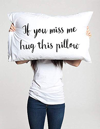 H23ilaryVogt Long Distance Relationship Gift Pillow Case Boyfriend Love  Friendship Friend I Miss You Gift If You Miss Me Hug This Pillow Ldr  Missing