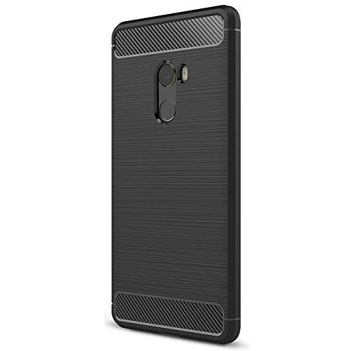 Xiaomi MI Mix 2 Funda, Tianqin Ultra-delgado Ultraligero de Amortiguación Silicona TPU [Anti Deslizamiento] [Resistente a los Arañazos] Cubierta Protectora del Caso Para Xiaomi MI Mix 2 case - Negro