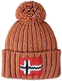 Napapijri Semiury N0YGSE cuffia uomo donna berretto in lana con ponpon  (Arancione (A51 Orange 1e95665e2390