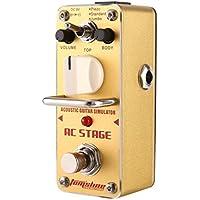 Dooret Acoustic Guitar Simulator Mini Single E-Gitarren Effektpedal mit True Bypass Guitar Zubehör