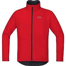 GORE BIKE WEAR Chaqueta para ciclismo en carretera o MTB, Hombre, GORE-TEX, Talla XL, Rojo, JGTELE