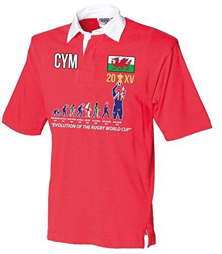 """World Becher 20XV 2015 Gewinner (aktualisierte VERSION) """"Evolution eines Rugby-Shirt für Rugby"""" Erwachsene - Wales"""