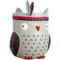 SJIAGYP Ornamentos creativos de la Hucha del hogar, búhos Pintados a Mano, Decoraciones de la Resina