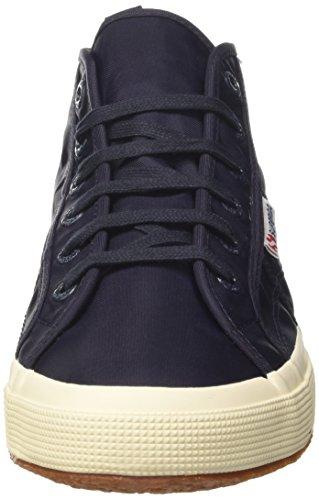 Superga 2754-Nylm New, Sneaker a Collo Alto Uomo Blu (Navyf Off White)