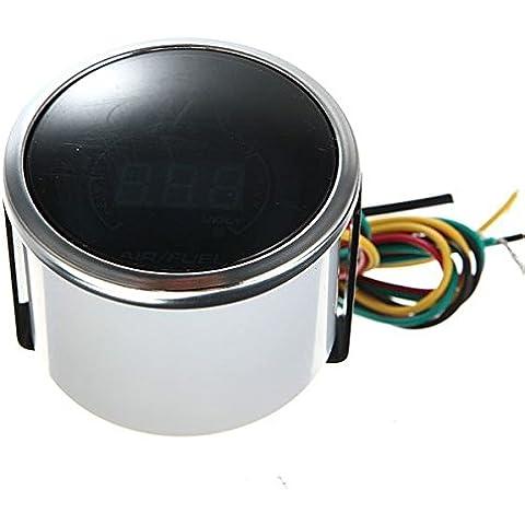 Rapporto aria carburante AFR Volt Blue Digital LED Combo Gauge Smoke Viso