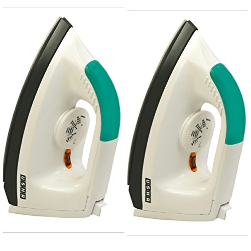 Usha EI-1602 1000W Dry Iron White (Combo of 2) Panel Color May Vary