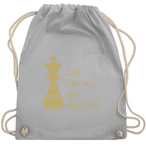 JGA Junggesellinnenabschied - Die Dame des Abends - Unisize - Hellgrau - WM110 - Turnbeutel & Gym ()