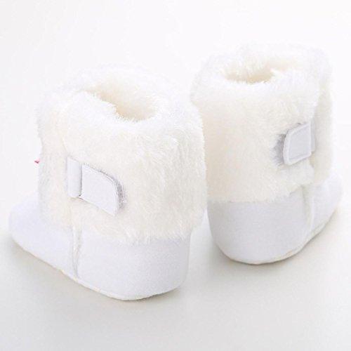 Hunpta Babyschuhe Mädchen Jungen Lauflernschuhe Baby Schneestiefel halten warme weiche Sohle weiche Krippe Schuhe Kleinkind Stiefel (11, Weiß) Weiß