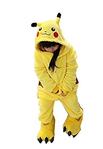SMITHROA Ensemble de Pyjama Enfant Combinaison Animal Cosplay Déguisement Halloween Costume Onesie Fille Garçon Flanelle PKQ 105