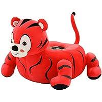 Preisvergleich für MAXYOYO Kids Plüsch Spielzeug Kindergarten Cartoon Tiger/Zebra/Leopard/Lion gefüllt Sofa Stuhl, Tatami Rückenlehne Sitz für Jugendliche/Kleinkinder/Baby, Tolles Geschenk für Kinder Red Tiger