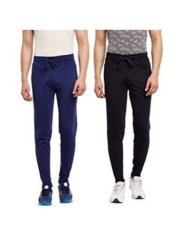 HAIG-DOT Men's Cotton Trackpant Combo (Pack of 2)