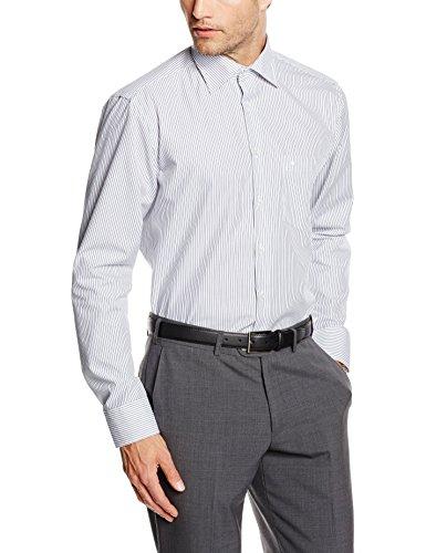 Seidensticker Herren Regular Fit Business Hemd KENT STRIPE Blau (blau gestreift 16)