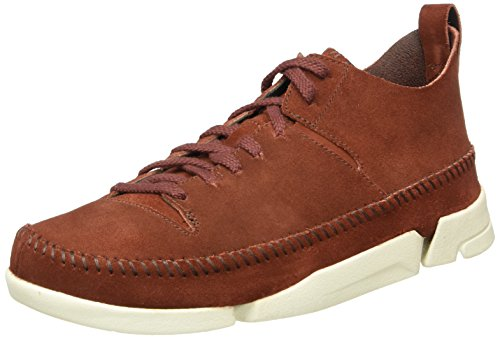 Clarks Originals Trigenic Flex, Herren Sneakers, Braun (Nut Brown Suede), 44 EU (9.5 Herren UK)