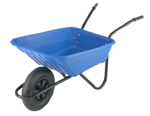 Walsall Wheelbarrows Shire Poly Wheelbarrow for the garden - Blue