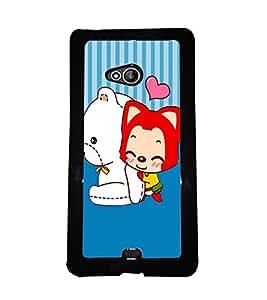 PrintVisa Metal Printed Crazy Designer Back Case Cover for Nokia Lumia 540/ Nokia XL 956-D5042