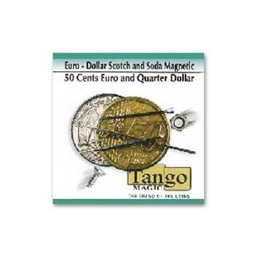 Euro-Dollar-Scotch-and-Soda-Magnetic-050Quarter-by-Tango-Magic-Magie-mit-Tuch-Zaubertricks-und-Magie SOLOMAGIA Euro-Dollar Scotch and Soda (magnetisch) – 0,50 / Viertel von Tango Magic – Magic Trick -
