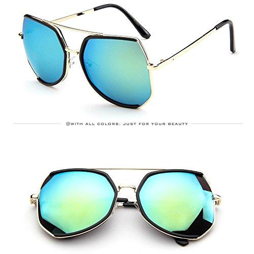 Honestyi Mens Womens Spiegel Big Frame Damen unregelmäßige Form Sonnenbrillen Eyewears unregelmäßig große Sonnenbrille