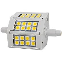R7S 5W 78mm LED Bombillas 24x SMD5050 Blanco Cálido 3000K 400lm, No Regulable - Equivalente J78 50W R7s Bombilla halógena